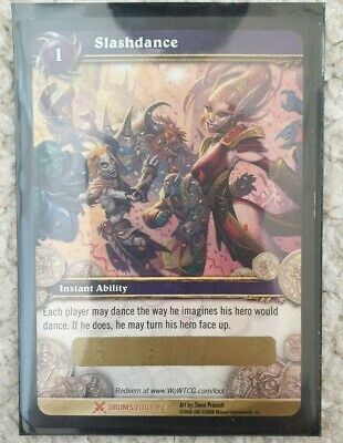 £0.99 • Buy Slashdance Unscratched World Of Warcraft Wow TCG Loot Card Drums