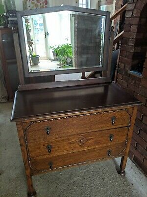 £50 • Buy Oak Chest Of Drawers With Mirror