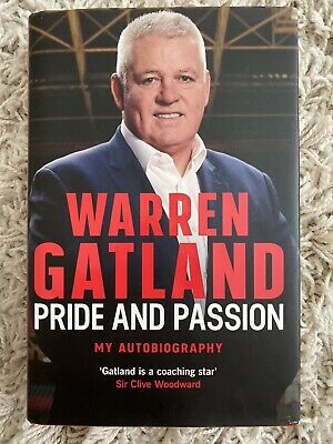 £55 • Buy SIGNED Warren Gatland Pride Passion Autobiography 2019 HB Book 1st LIONS Rugby