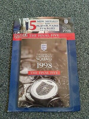 £20 • Buy Sainsburys England World Cup 1998 Squad Medal Coin Collection The Final 5