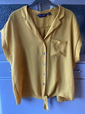 £1.40 • Buy Dorothy Perkins Size 14 Mustard Tie Front Blouse Top