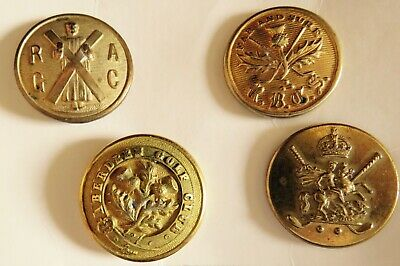£10 • Buy Golf Club Buttons, Group Of Four Copper Gilt Examples