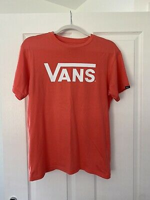 £0.99 • Buy Women's Vans T-shirt Coral Pink Size Small 100% Cotton - EXCELLENT CONDITION