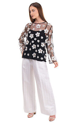 AU20.54 • Buy RRP €310 ALEXACHUNG Tulle Top Blouse Size UK 10 / S-M Inner Layer Floral Sequins