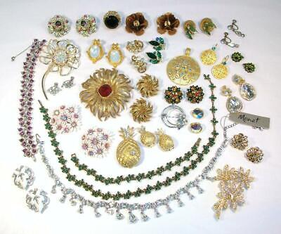$ CDN16.37 • Buy 25+ Pieces LOT Of All SIGNED Vintage To Modern RHINESTONE Jewelry Bogoff Coro ++
