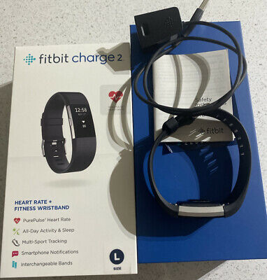AU50 • Buy Fitbit Charge 2 Fitness Activity Tracker Watch Size Large Black HARDLY USED