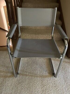 AU150 • Buy Mid Century Cantilever Chrome And Leather Chair