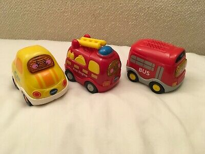 £8.99 • Buy 3 Toot Vehicles - Car, Bus And Fire Engine