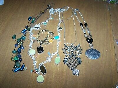 $ CDN25.16 • Buy Jewelry Lot Bracelet Pendant Necklaces Lia Sophia And Articulated Owl