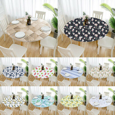 AU15.79 • Buy Elastic Tablecloth Waterproof Oilproof Round Dining Protector Table Cover Cloth