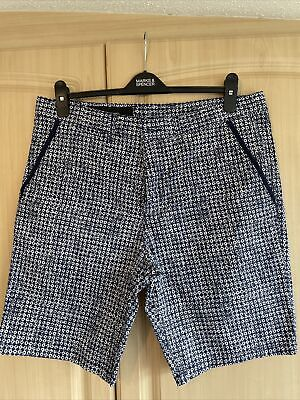 £7 • Buy Ax Armani Exchange Mens Navy And White Smart Shorts Size 36