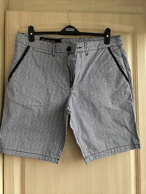 £12 • Buy Ax Armani Exchange Mens Navel And White Smart Shorts Size 36