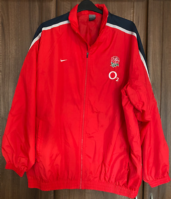 £69 • Buy England Rugby Match Worn Anthem Jacket 2008 Vs South Africa