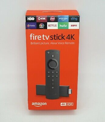 AU56.74 • Buy AMAZON FIRE TV STICK 4K (4K HDR) STREAMING MEDIA PLAYER *BRAND NEW In RETAIL BOX