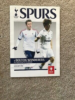 £2.99 • Buy Tottenham Spurs Youth V Bolton Wanderers Yth F A Youth Cup 2013/14  RESULT 4-8!!
