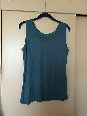 £12 • Buy Yong Kim Crinkle Sleeveless Blue Short Top, Bust 36  Used Excellent Condition