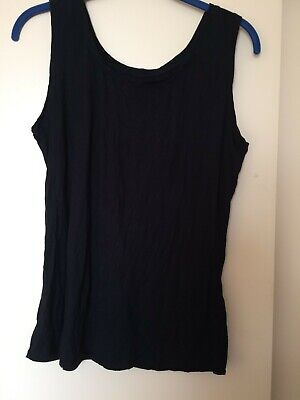 £12 • Buy Yong Kim Crinkle Sleeveless Black Short Top, Bust 36  Used Excellent Condition