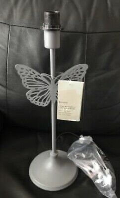 £14.75 • Buy Dunelm Grey Metal Lamp Base With Butterfly Detail