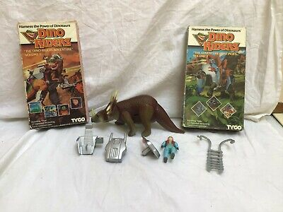 £15 • Buy Vintage 1980s Dinoriders Styracosaurus &Turret With Parts & 2 VHS Tapes Bundle