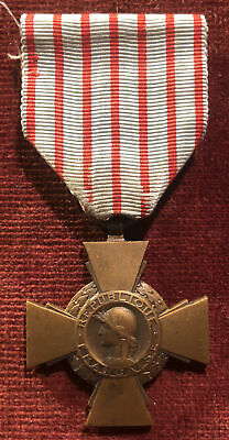 £9.99 • Buy WW1 French Medal Combatants Cross 1914 - 1918 Stamped BR Army Military