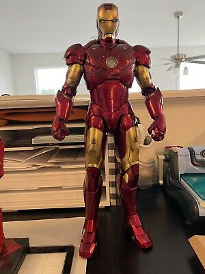 $600 • Buy Hot Toys 1/4 Quarter Scale Iron Man Mark 3 III Deluxe Version QS012