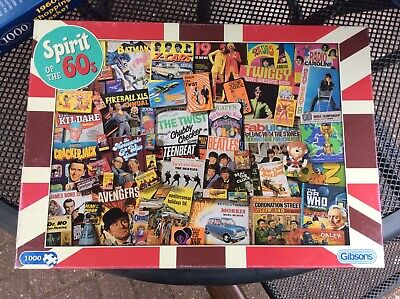 £4 • Buy Gibsons 1000 Piece Jigsaw Puzzle Spirit Of The 60's
