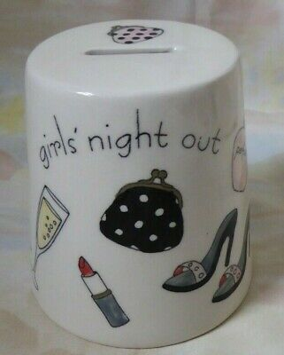 £6 • Buy Cone Shaped Ceramic 'Piggy Bank' .. Money Box 'Girls' Night Out'  Hand Painted