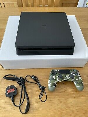 AU95.30 • Buy Sony PlayStation 4 PS4 Slim 1TB Black Console With Camo Controller