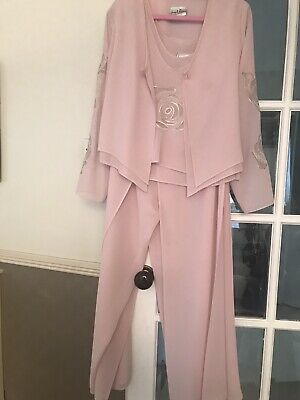 £19.95 • Buy Josef Ribkoff 3 Pce Trouser Suit Special Occasion,  Wedding  Size 14