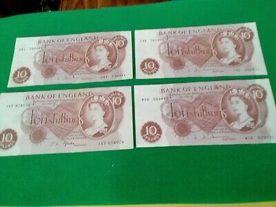 £20 • Buy Four Old Ten Shilling Bank Notes In Very Good Condition.