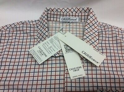 £10 • Buy Bnwt Caijue Chinese Mens White Check Short Sleeve Casual Shirt Size Large