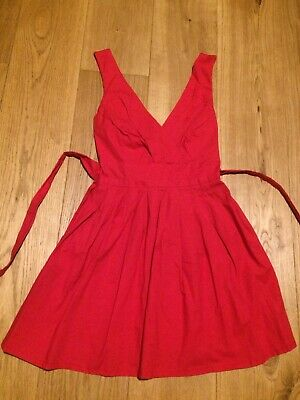 £12.99 • Buy Wal G Red Dress Asos Small/medium Great Condition Skater Fit And Flare