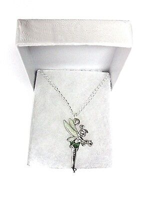 £18.95 • Buy NEW 3D Double Sided Disney World Tinkerbell Pendant On Silver Plated Necklace