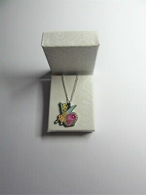 £17.95 • Buy New Disney World Tinkerbell June Birthday Charm On A Fine Silver Plated Necklace