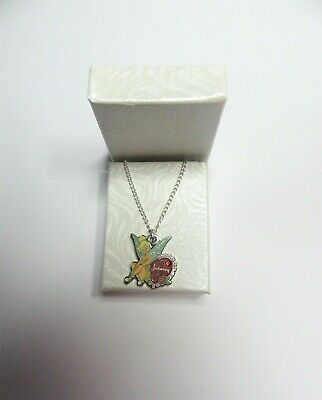 £18.95 • Buy Disney World Tinkerbell January Birthday Charm On A Fine Silver Plated Necklace