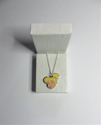 £18.95 • Buy NEW Double Sided Disney World Tinkerbell Pretty Face Silver Plated Necklace