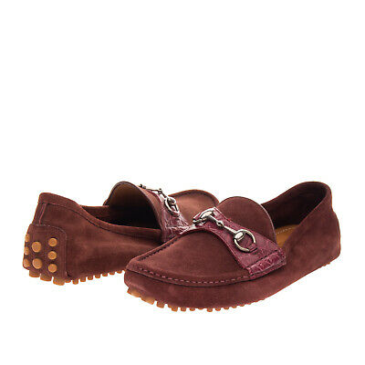 AU77.43 • Buy RRP €430 GUCCI Leather Driving Moccasins EU41.5 UK7.5 US8 Horsebit Made In Italy