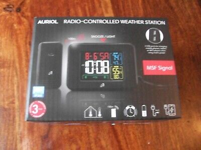 £14.99 • Buy Auriol Radio Controlled Temperature Station With MSF Signal Black