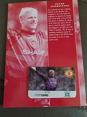 £30 • Buy Manchester United Phone Card Collection Peter Schmeichel