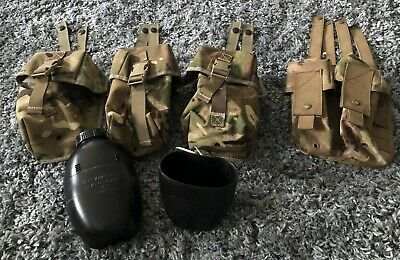 £5 • Buy MTP, Webbing Kit. 3 X Utility Pouches,  1 X Double Ammo, Water Bottle/Cup Incl