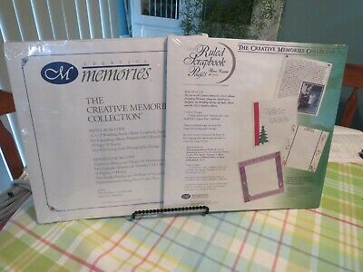 £5.81 • Buy New Creative Memories 12 X 12 Wedding Border Pages + Ruled Scrapbook Pages