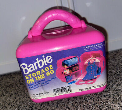 $ CDN6.28 • Buy Vintage Barbie On The Go Travel Case Storage Box Tara Toy Corp. For Accessories