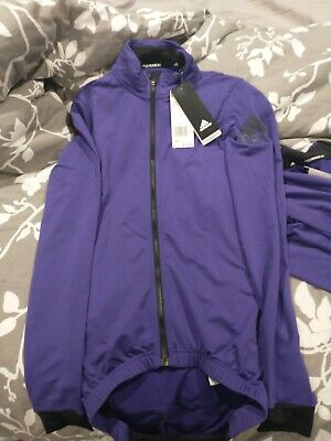 $45 • Buy Mens Adidas Climaheat Cycling Jacket Purple BR7815 Size Small Msrp $120 NWT