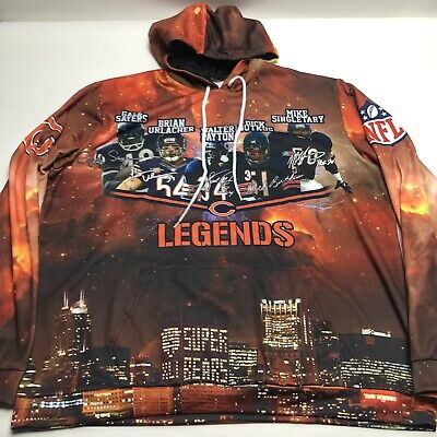 $75 • Buy Chicago Bears Legends All Over Print Payton Butkus Football Hoodie Mens Size XXL