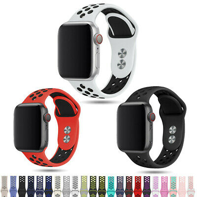 AU4.99 • Buy For IWatch Silicone Band Sport Strap 38/40/42/44mm Apple Watch Series 6 5 4-1 SE