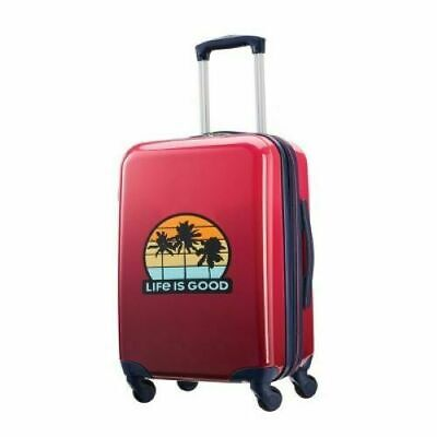 """View Details Travel Suitcase American Tourister Life Is Good Sunset 20"""" Carry On W Spinner • 69.00$"""