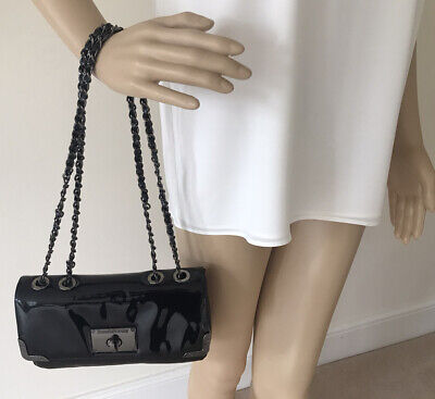 £69 • Buy Russell & Bromley Women's Bag Evening Party Black Patent Small Worn Twice £350
