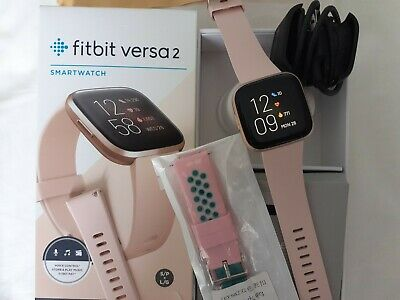 $ CDN124.64 • Buy Fitbit Versa 2 Copper Rose Case With Petal Band/ New Pink Sports Band Used