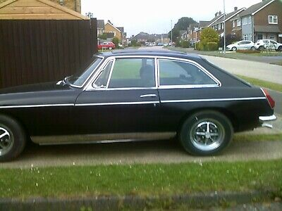 £1020 • Buy MGB GT Project 1975 Black Rubber Bumper Converted To Chrome