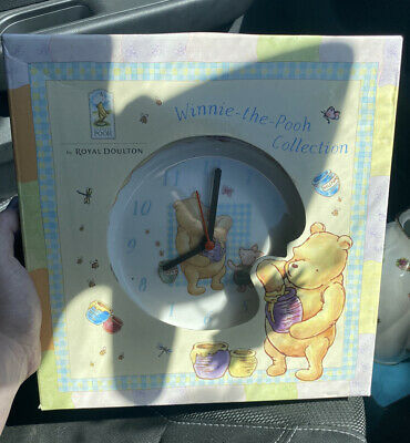 £4.99 • Buy Royal Doulton Winnie The Pooh Clock Plate Boxed